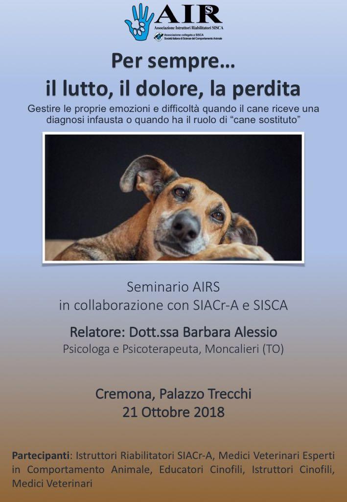 Seminario Death Education, Formazione Medici veterinari